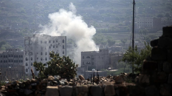 Houthis bomb residential areas in Taiz