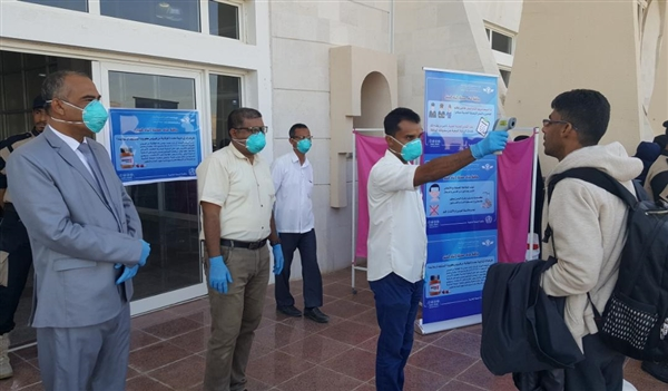 Health authority inspects incoming passengers at Sayaun Airport for Coronavirus