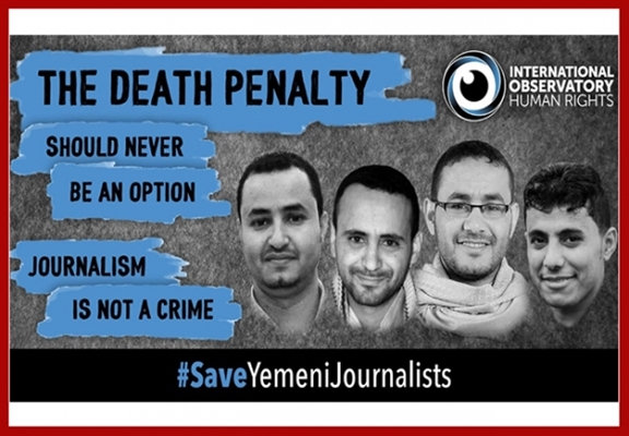 Four Yemeni detained journalists listed among ten most urgent cases